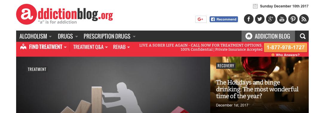 Addiction recovery blog Purpose