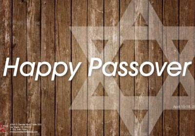 John A. Martin & Associates of Nevada - Happy Passover