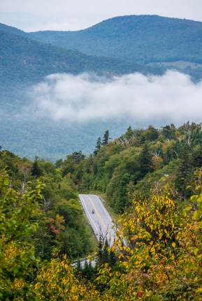 The road to Appalachian Gap, Vermont