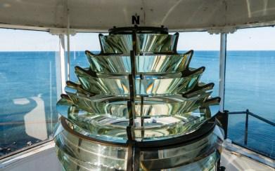 Fresnel lens of the Sodus Point Lighthouse