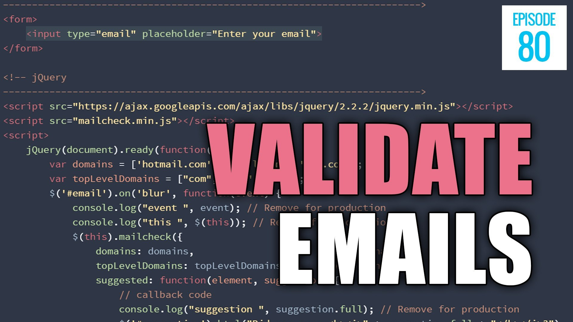 Php code for validating email address