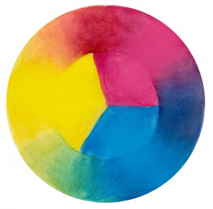 Color wheel mixed from Cyan, Magenta and Yellow.