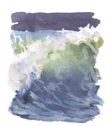 how to draw sea waves