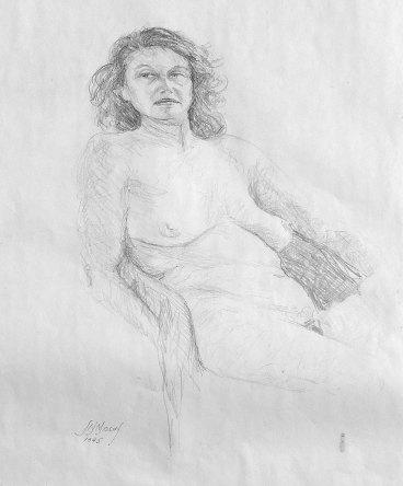 1995. Life Drawing Debbie