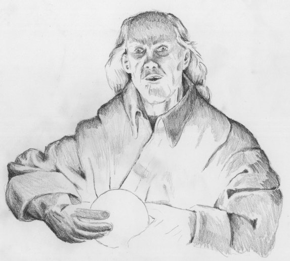 2000. Pencil drawing Wizard