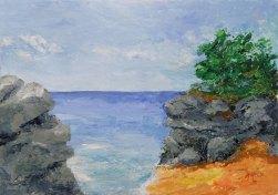 Beach Rocks. Acrylic on 300gsm acid-free paper. A3 29cm x 42cm $280