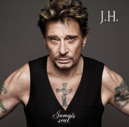 Pochette CD Jamais Seul Johnny Hallyday