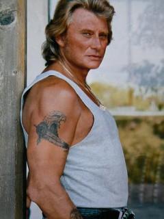 Tatouage Aigle Johnny Hallyday