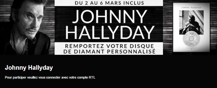 johnny hallyday disque diamant jeu concours RTL