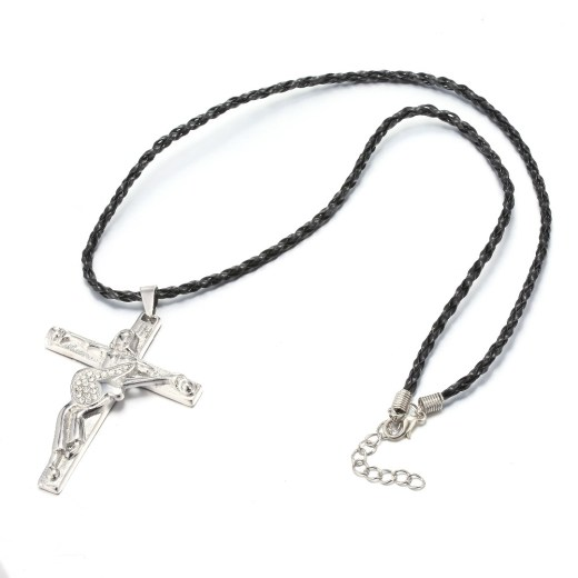 Collier Croix de Johnny Hallyday en forme de crucifix guitare