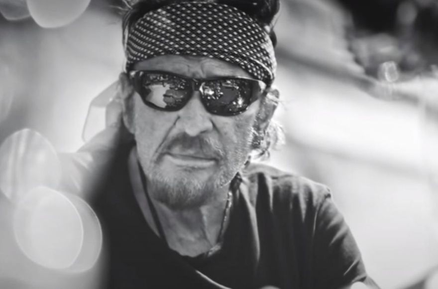 Johnny Hallyday on the road