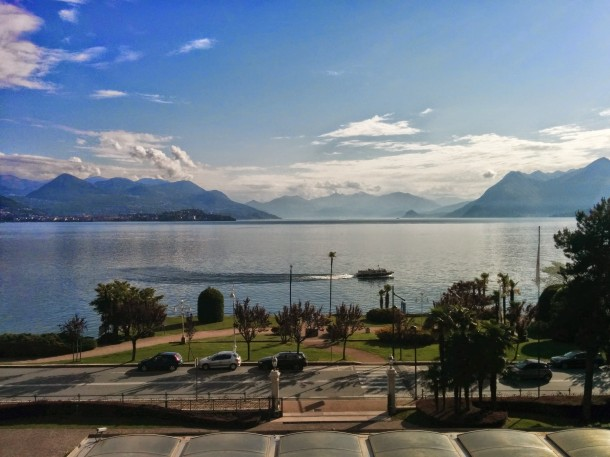 Room with a view at the Grand Hotel Bristol in Lake Maggiore, Italy