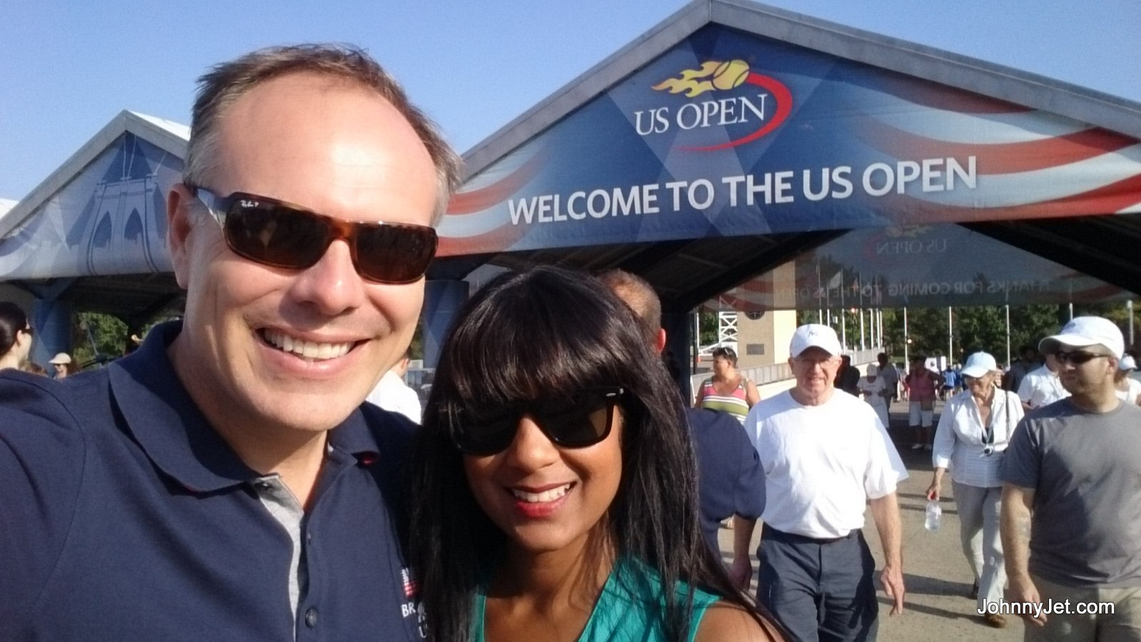 Johnny and Natalie at the 2014 US Open