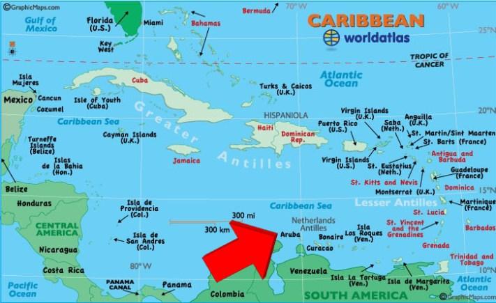 Resultado de imagem para mapa aruba