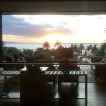 Lobby at sunset