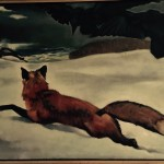 Fox painting in Mad River Barn