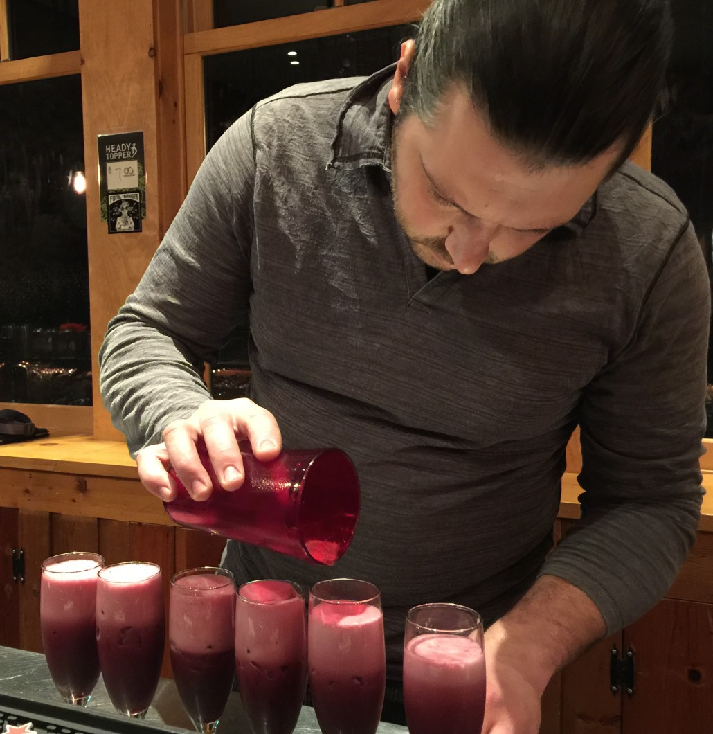 Mad River Barn's Chef Sergio creating cocktails