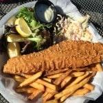 Outdoor dining at Sugarbush's Castlerock Pub