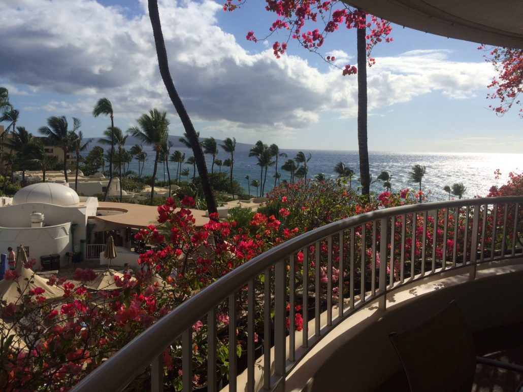 View out of the suite from the lanai at the Fairmont Kea Lani