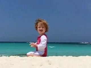 Stella on the beach at Club Med Cancún Yucatán