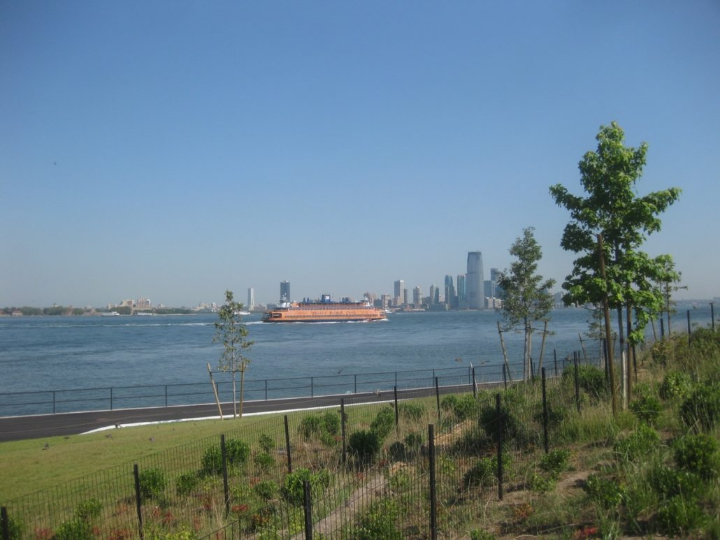 Looking northwest to Jersey City, New Jersey, with Staten Island Ferry