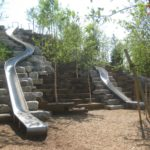 Longest slide at Slide Hill: 57-feet long, the longest in NYC