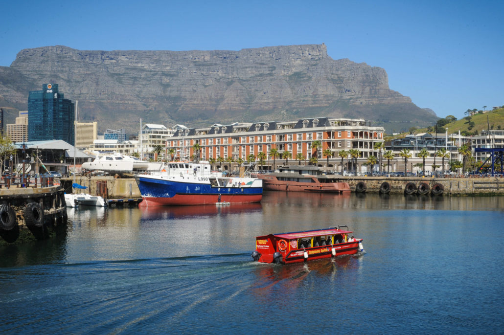 Victoria & Alfred Waterfront in Cape Town has magnificent views of Table Mountain and the bay
