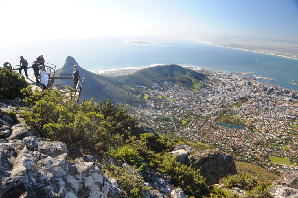 No better view of Cape Town and Robben Island than from the top of Table Mountain