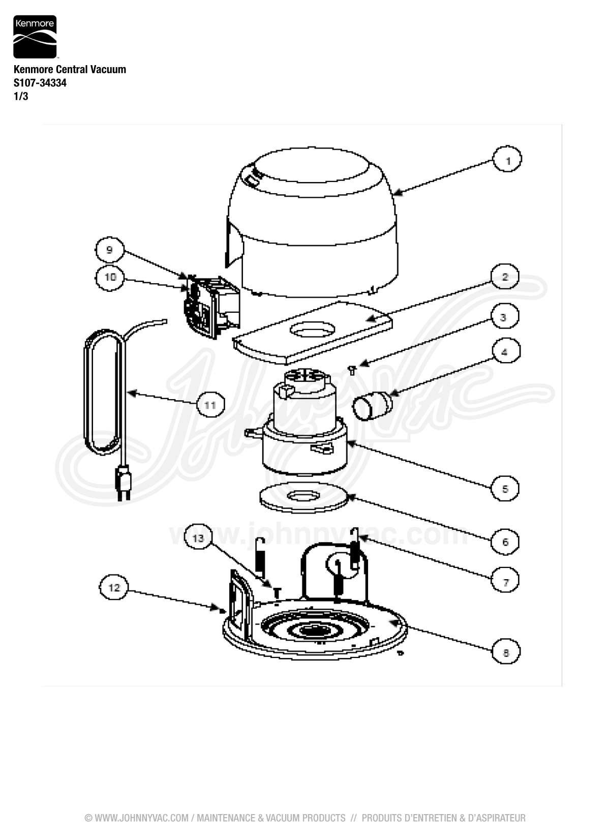 Kenmore Central Vacuum Wiring Diagram