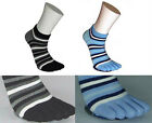 Patented men fashion ankle toe socks low cut toe socks 4 pairs stripe