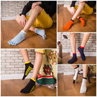 5 Pairs Men's five finger toe Breathe Socks Ankle Casual Sports Low Cut Socks