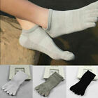 3 Pairs Mens Cotton Toe Five Finger Socks Ankle Sports R6I8 Low N Cut O2Z2