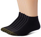 Gold Toe Men's 6-Pack Cotton Low Cut Sport Liner Socks, Black 10-13 Shoe: 6-12.5