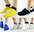 5 Pairs Mens Five Finger Toe Socks Combed Cotton Ankle No Show Low Cut Sports