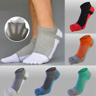 1 Pair Men Splicing Mesh Five Finger Toe Socks Cotton Male Low-cut Ankle Socks