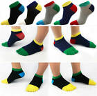 1pair New Men's Sport Toe Socks Breathable Cotton Low Cut Casual Socks US 7 - 11