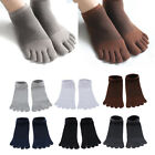 Mens Cotton Socks Five Finger Toe Socks Breathable Low Cut Short Ankle Socks
