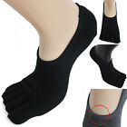 3pairs Mens Cotton Low Cut Toe Socks Ideal BLACK Five Fingers Sneakers Shoes