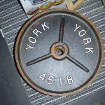 York 45lb Olympic Plates