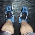 Blue Asics Wrestling Shoes