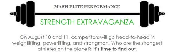 Mash Elite Strength Extravaganza
