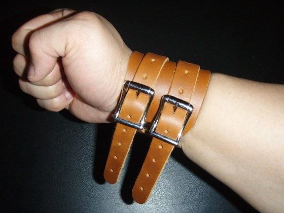 Risto Leather Wrist Wraps