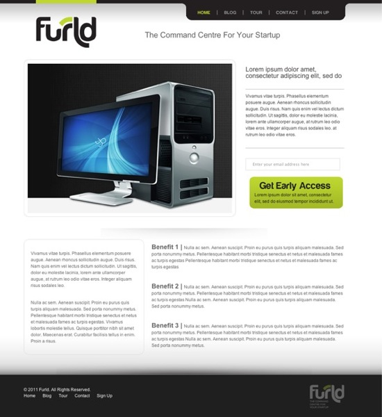 Furld home page design