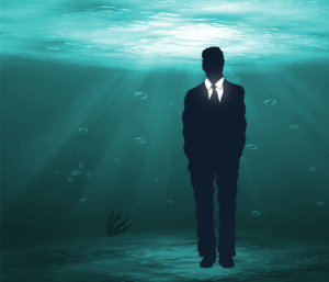 dive deep illustration -green