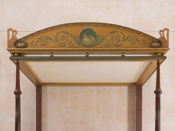 Decorative finished pelmet fitted to the frame