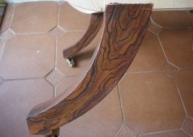 Simulated Rosewood chair leg