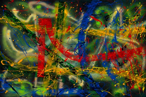 "No. 2268. Healing Exploration Series - Remembrances of Past Times: ""My Higher Self"". $4,500. Original Mixed Acrylic on 40""h x 60""w Quality Stretched Canvas."