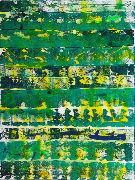 """No. 2311. """"Weather Reel - Pacific NW USA 2"""" Original Mixed Acrylic on 40""""h x 30""""w x 1.5"""" Blick Premium Quality Stretched Canvas."""