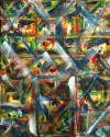 """No. 2362. """"Portal Doorways 4"""" from the Kaleidoscopic Illusion Series. $450. Original mixed acrylic paint on 20"""" x 16"""" x .5"""" stretched canvas."""