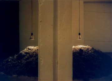 john ros installation, sumus solum quot mentes credant, 2001